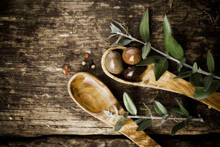 Löffel aus Olivenholz