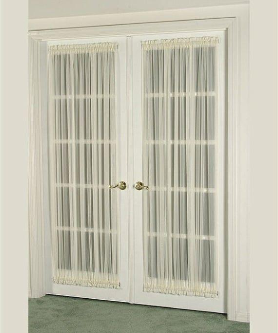 Door Curtains For Door Windows 76 Width Fits Door Etsy In 2020 French Doors French Door Window Treatments French Door Curtains