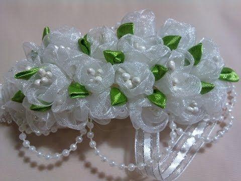 Воздушные ЦВЕТЫ из Лент. Мастер-класс / Ribbon Flowers Tutorial / ✿ NataliDoma - YouTube