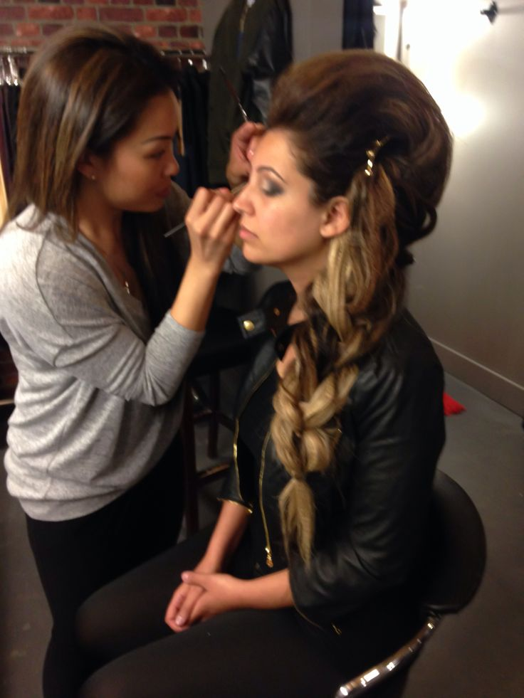 Behind the scenes make up by @n2mua  hair by me