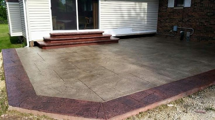 Stamped Patio And Steps By Focal Point Concrete And