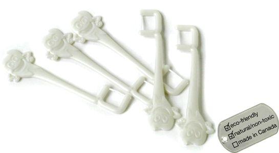 Here comes Halloween! Compostable kid's floss picks -   www.lavishandlime.com/Compostable-Kids-Floss-Picks-30-pack-p-1203.html#