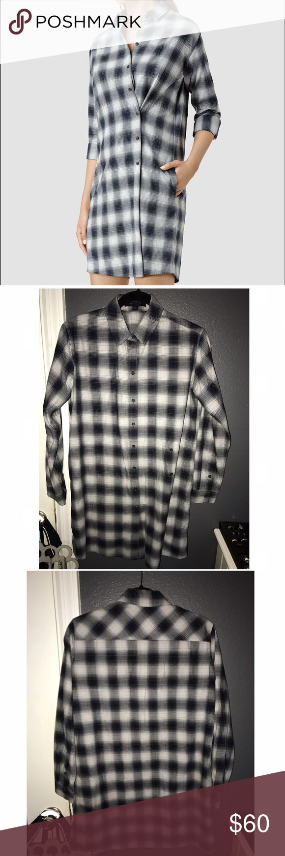 AllSaints Dress Flannel Dress. Size 6. Stain shown. AllSaints. Long sleeve. All Saints Dresses Mini