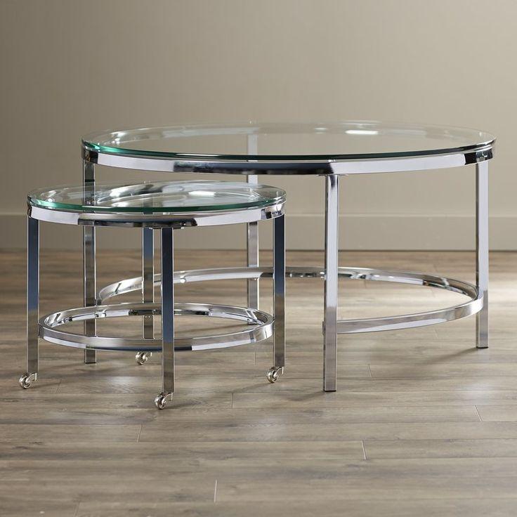 Best Joel 2 Piece Coffee Table Set Стеклянные Журнальные 400 x 300