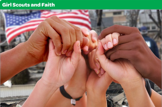 "girlscouts.org has a great booklet for the ""My Promise, My Faith"" pin that goes through each aspect of the promise with activities."