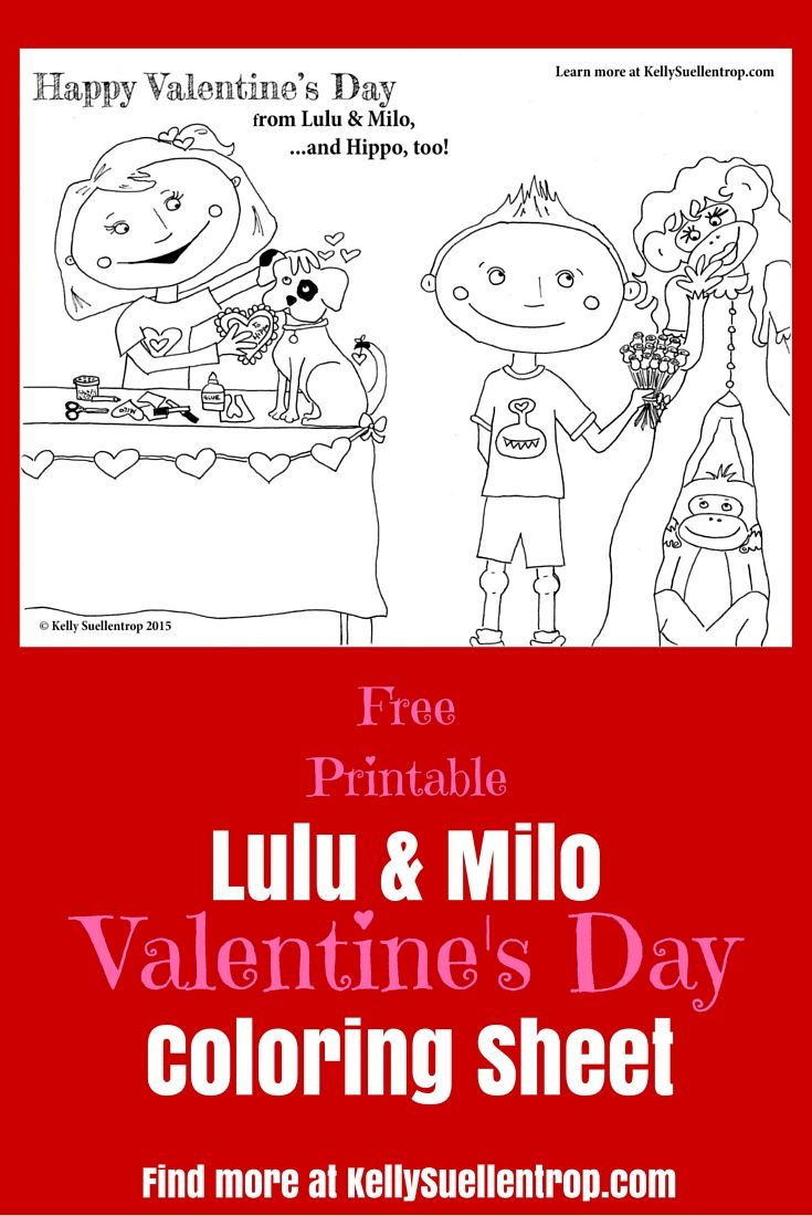 The 14 best Free Printable Lulu & Milo Coloring Pages images on ...