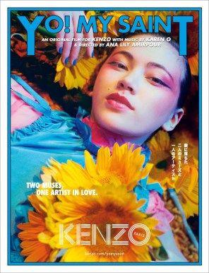12ed7ef1f Kenzo's Original Song Yo! My Saint by Karen O for Spring 2018 ...