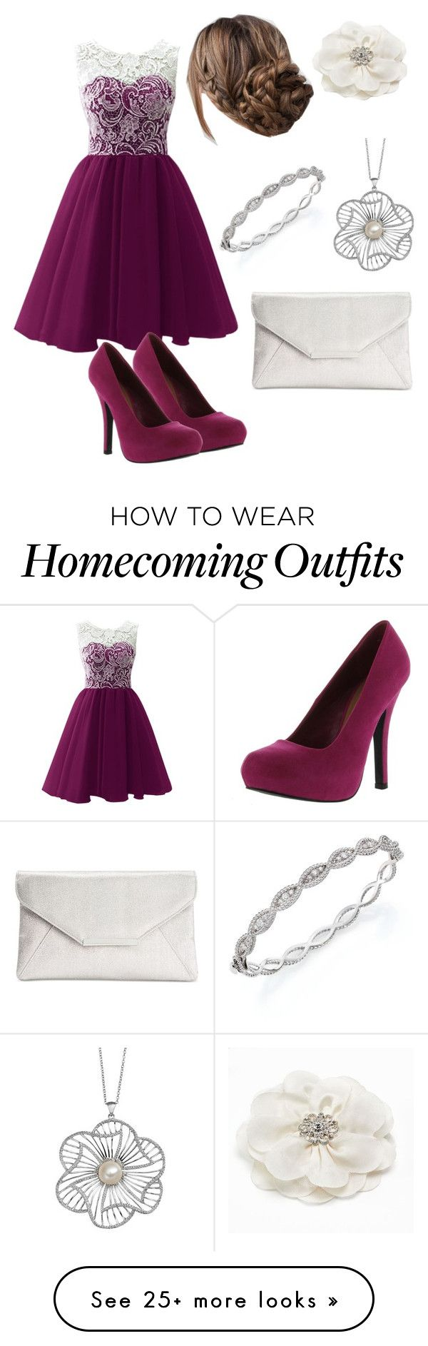 """Homecoming 5"" by flutegirlcap on Polyvore featuring Roberto Coin, Qupid and Style & Co."