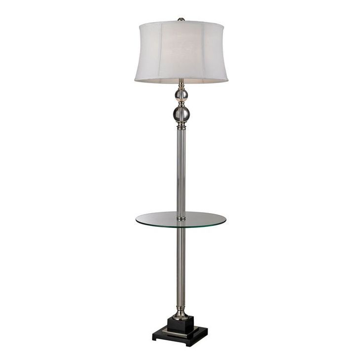 dimond lighting crystal floor lamp with glass tray d2310