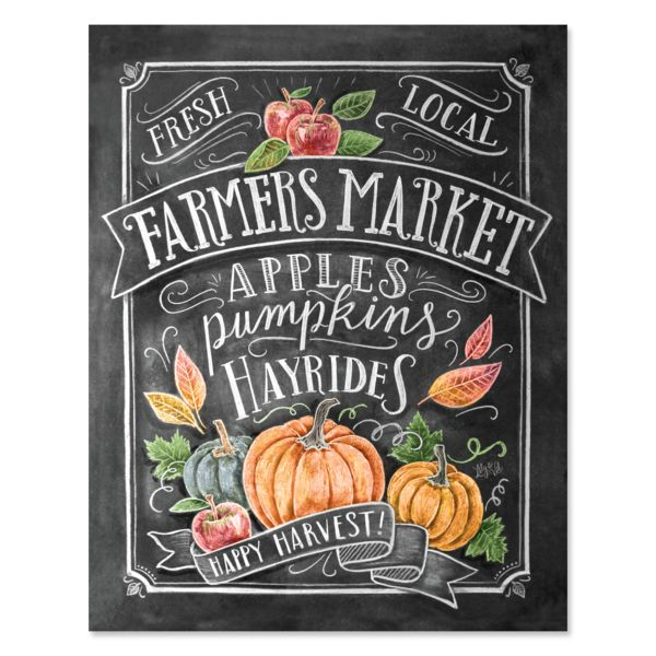 The local Farmers Market is the best way to spend a Saturday, especially in the Fall. Walking through each booth with cider in hand, you explore the colorful pumpkins, apples and treats each vendor has to offer. Smells of spices, hay and crisp fall leaves combine to perfume the air with the pure scent of autumn. We just can't get enough!