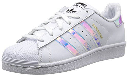 adidas Superstar, Sneakers Basses mixte enfant: Tweet – Obermaterial: Leder / Synthetik – Innenmaterial: Textil (Mesh) – Sohle: Gummi –…