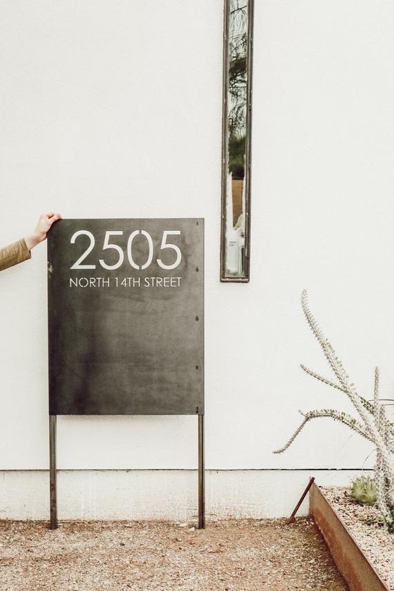 Custom Yard Address Sign In Steel House Numbers Yard Numbers Address Signs For Yard Address Sign House Numbers