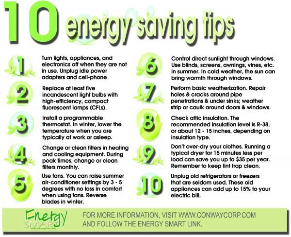 Here Are 10 Easy Energy Saving Tips!