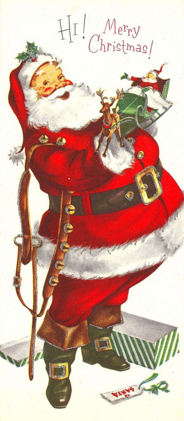 Stupell yorkie dog 3 panel decorative fireplace screen - Antique Christmas Santa Postcards And Vintage Illustrations