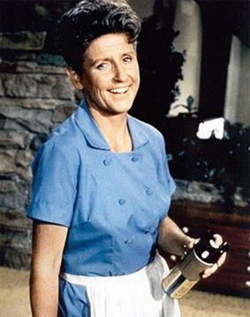 "Ann B. Davis played the family's housekeeper, Alice Nelson. Alice was the housekeeper to Mike Brady, his previous wife (who died before the series started), and their three boys. Alice stayed on, to be the housekeeper for not only his boys, but for his new wife, Carol, and her three daughters. She was known for her sky blue housekeeping uniform, which she almost always wore, and for telling jokes, which were almost invariably met with multiple ""Oh, Alice!"" responses from the family."