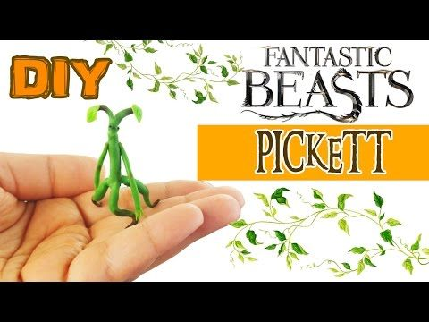 DIY PICKETT BOWTRUCKLE Polymer Clay Tutorial How to make Fantastic Beasts and where to find them diy - YouTube