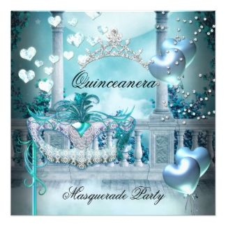 mascarade quinceanera invitations | Quinceanera Invitations, 12,000+ Quinceanera Invites & Announcements