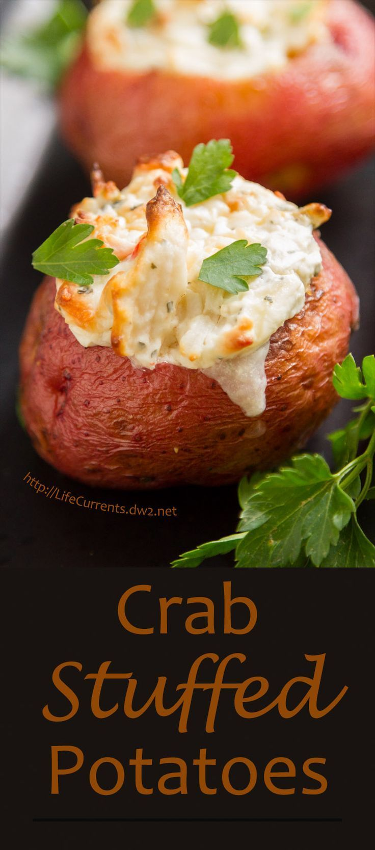 Crab Stuffed Baked Potato - delicious and easy to make! Impress your guests with these awesome tasty potatoes