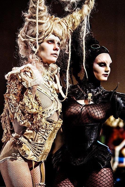 IMATS LOS ANGELES.   Makeup : Miranda Jory, Alana Schiro and Curtis Foreman.  Hair by Curtis Foreman.  Costume Miranda Jory/Miranda's Mummy.  Models: Laney Chantal and Violet Morphine