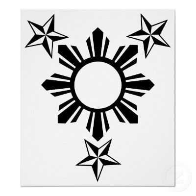 3 Stars and Sun from the Filipino Flag. Definitely getting this as a tattoo.