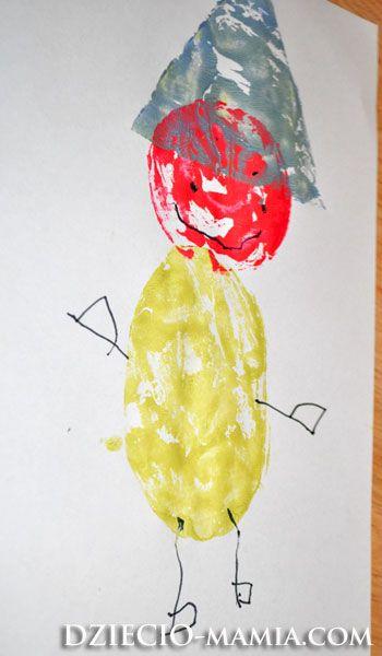 leprechaun, shapes, paint, stamps, dziecio-mamia.com