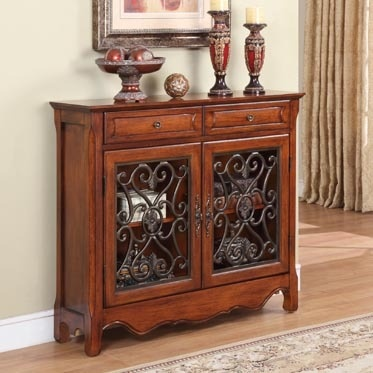 Tuscan Italian Tuscany Style Decor Scroll Buffet Table! Matches my breakfast table perfectly!