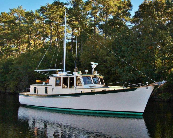 1982 Joel White/Brooklin Boat Yard Downeast Trawler Power Boat For Sale -