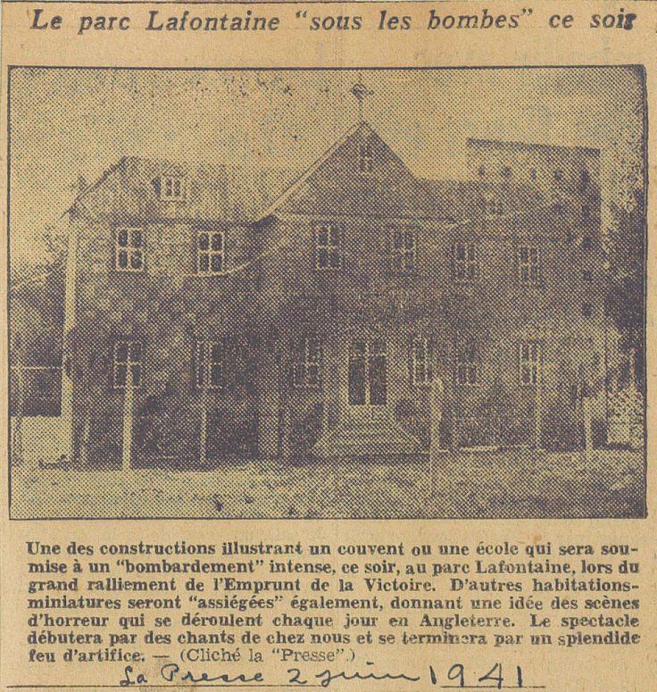"""Article du journal """"La Presse"""" du 2 juin 1941. SOURCE: Archives de la Ville de Montréal;  code: VM6-S10-D1901-38-A"""