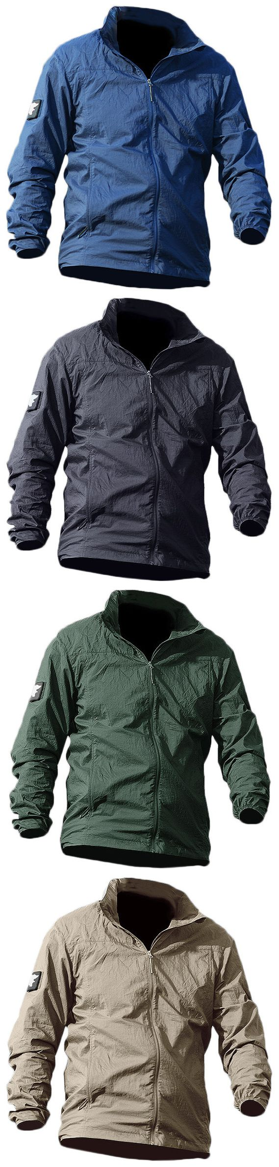 Outdoor Climbing Sun Protective Super Thin Quick-drying Skinsuit Jacket for Men