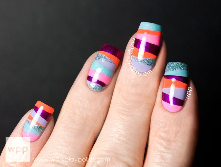 124 best nails images on pinterest nail designs gorgeous nails digit al dozen does tape manis orly mash up mash up stripe nail artgeometric prinsesfo Images