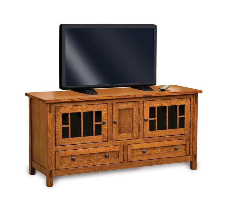 """Amish Centennial Mission 60"""" TV Stand with Three Doors Select the ultimate TV stand to organize your music, movies and more!"""