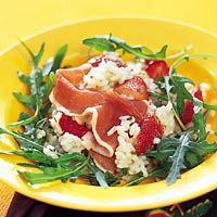 Recept - Kruidenrisotto met aardbeien en Parmaham - Allerhande... jummie