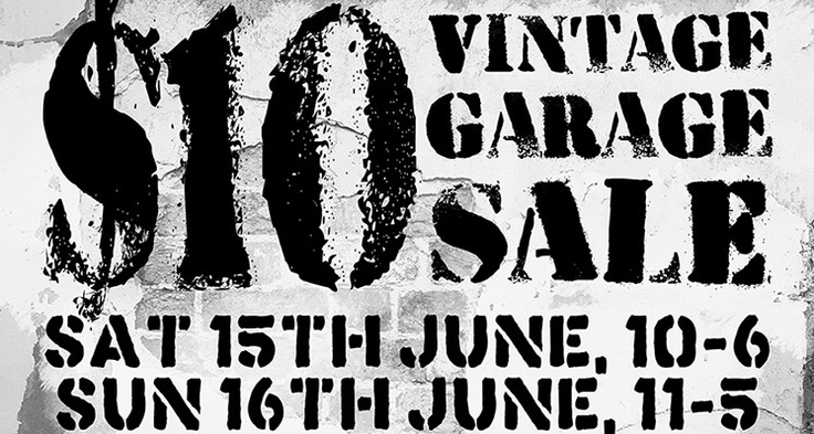 Head down to Vintage Garage for their annual $10 sale! The back of the store will be selling bags and bags of clothes and accessories for just $10 all weekend. And while you're there, pop in store for 10% off everything.