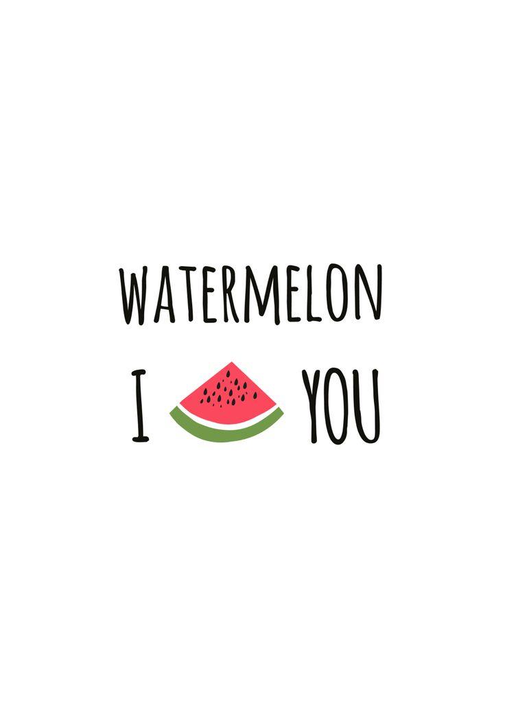 Watermelon I ❤️ you #patch #quote #graphic #illustration #girlsfashion #trend #style #design #designer #watermelon #idea #inspiration