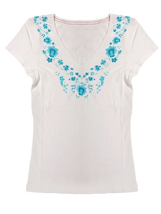 Levis White T ( White keeps you cool)