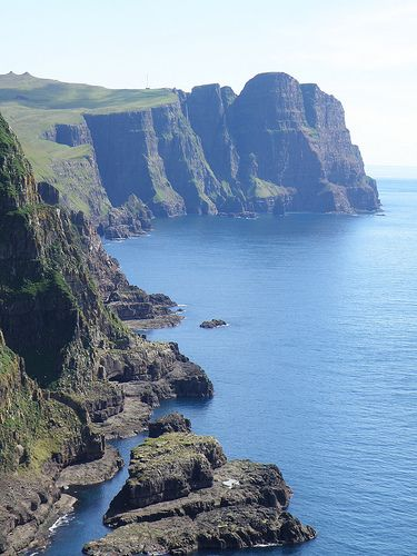 Cliffs of Suduroy, View towards Beinisvørð  | Faroe Islands (by Eileen Sandá)