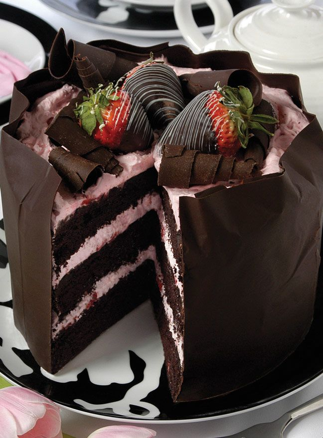 Strawberry Chocolate Mousse Cake Pastry by Chef Melissa Buiskool-Leeuwma of Baked Expectations