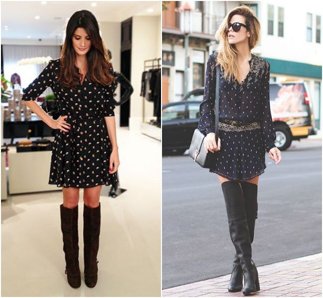 Dress and boots!