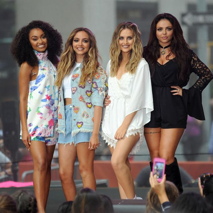 Beautiful girls! I love the playsuit Perrie wears