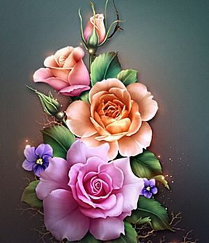 Rózsakompozíció (99 pieces)