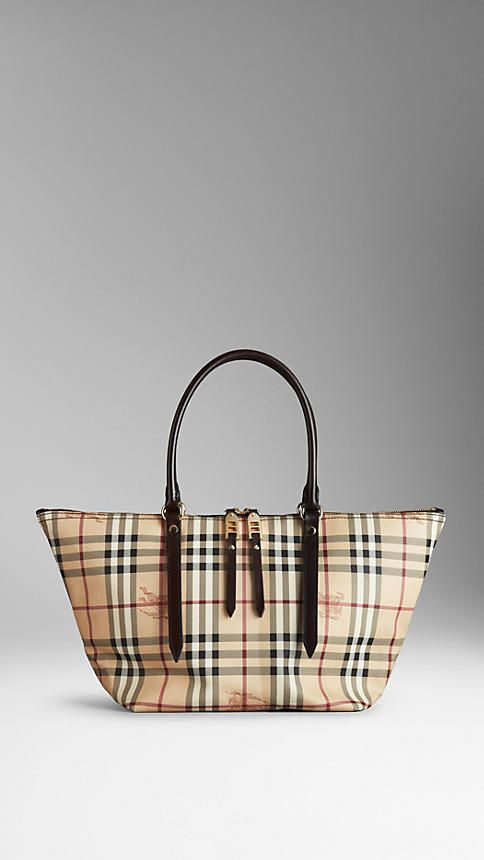 It's the perfect size!  Small Haymarket Check Tote Bag | Burberry