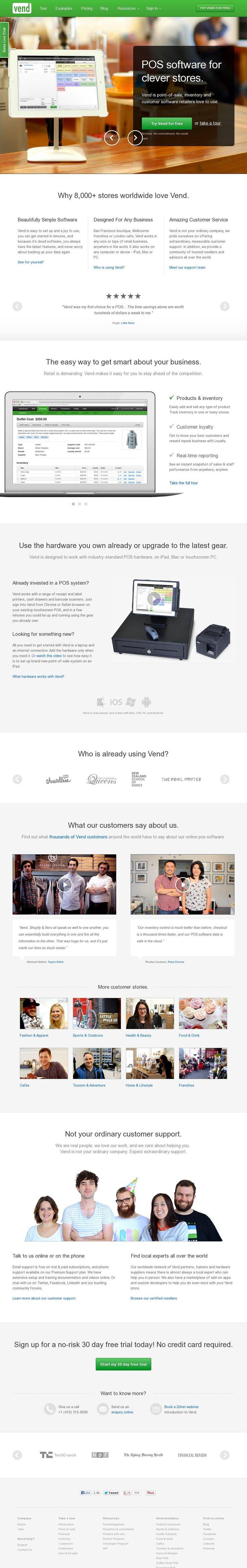 The website 'http://www.vendhq.com/' courtesy of @Pinstamatic (http://pinstamatic.com)