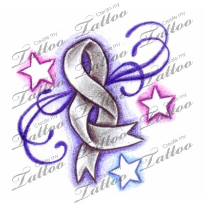 124 best cancer ribbon images on pinterest cancer ribbon for Does tattoo goo really work
