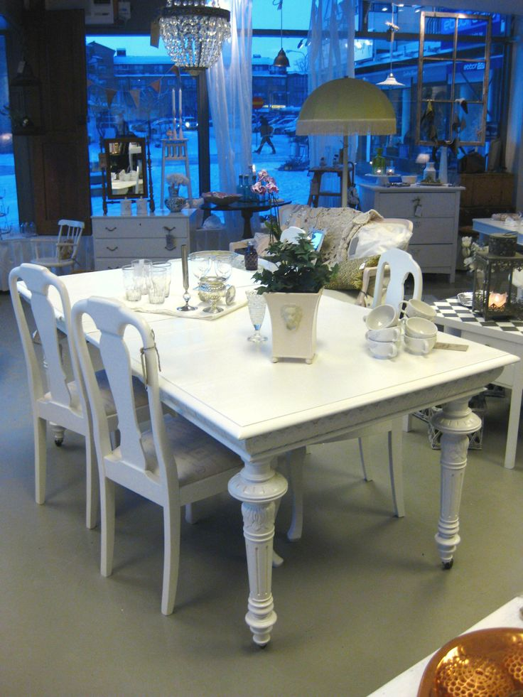 Swedish white dining table