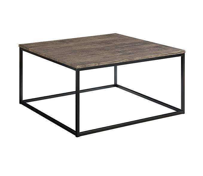 Amazon Com Abington Lane Contemporary Square Coffee Table