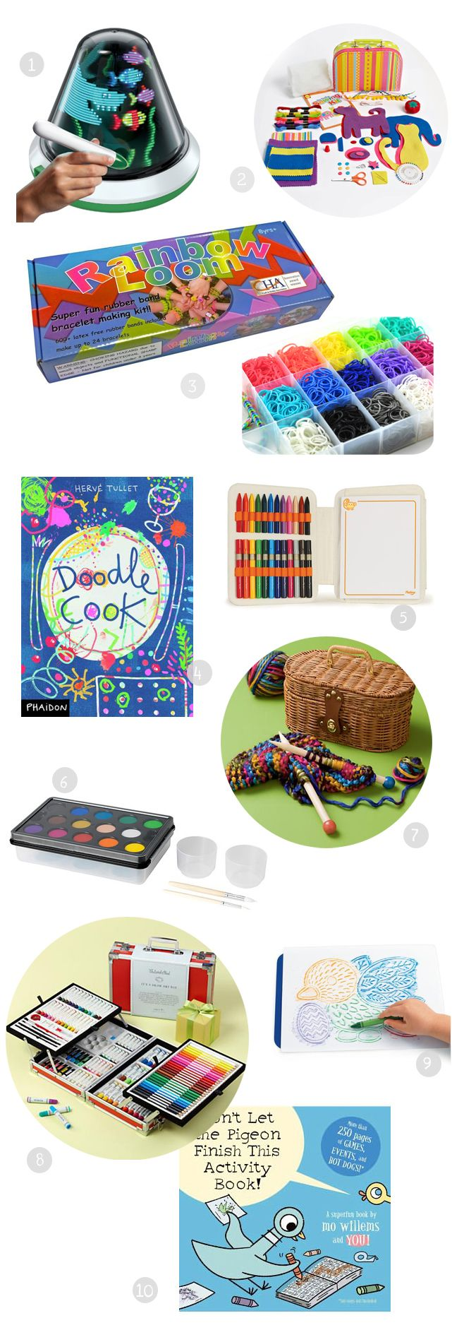 Gift guide: best art supplies for open-ended creativity - all great to have on hand for a rainy day! Detailed descriptions and age recommendations on this list.