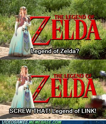 Get the Name Right for Once. Bahahah, Oh, Link.