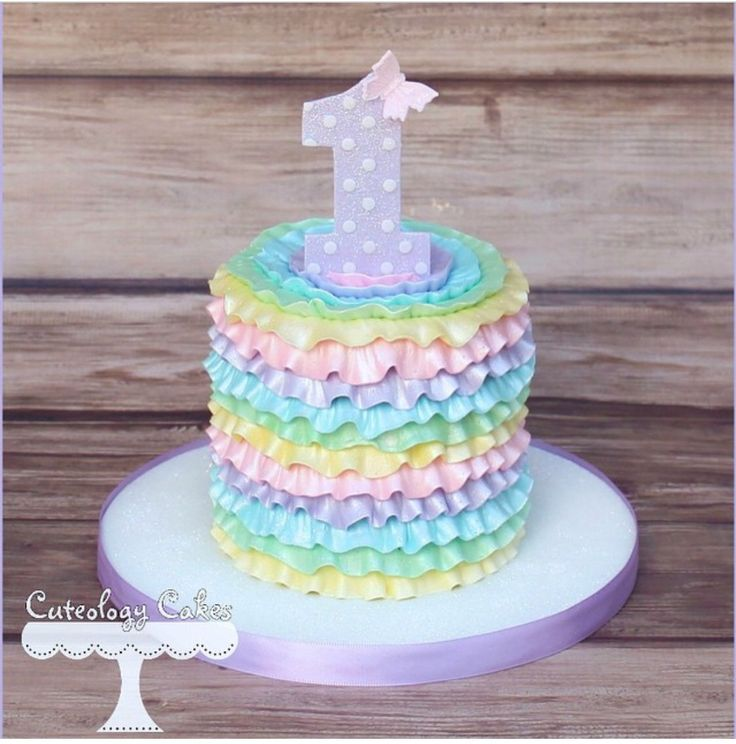 Rainbow St Birthday Cake