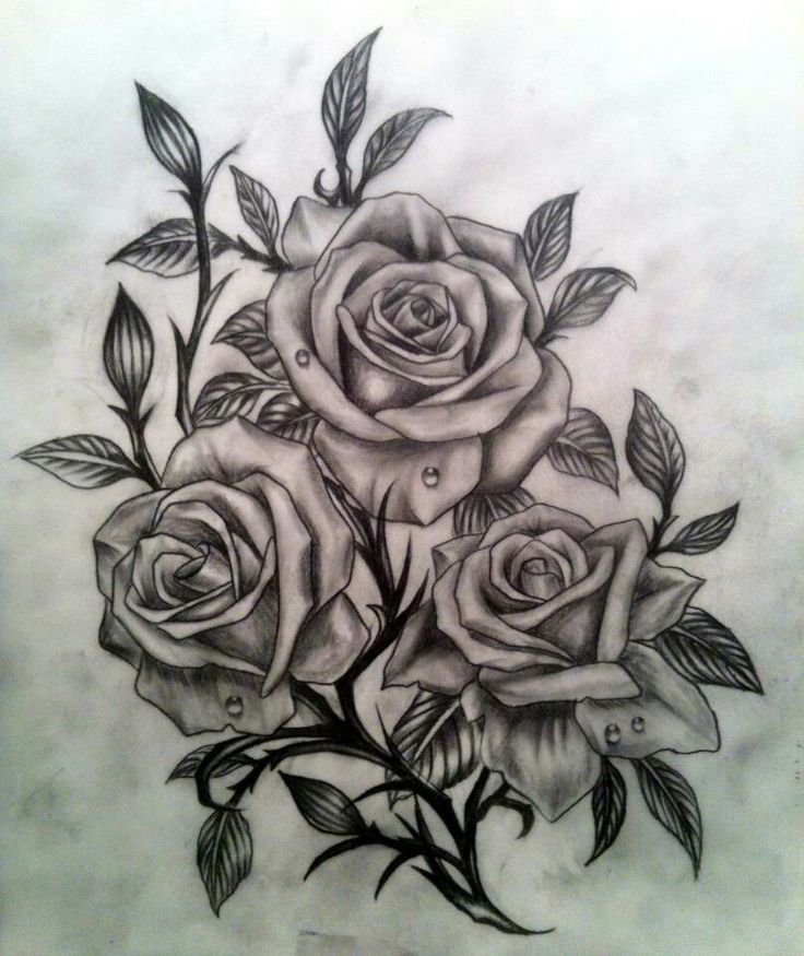 Rose tat, but with pink roses (in color)