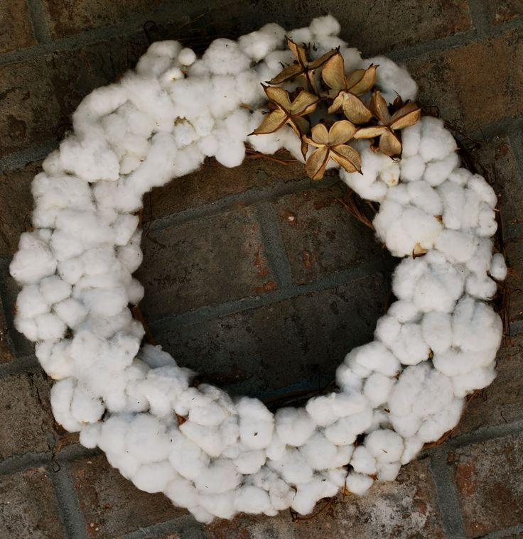 Mississippi Delta Cotton Wreath | Amanda Jane Brown